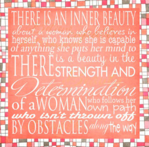 Inner Beauty Quote - 6x6 quote art block, woman, girls. Art block on ...