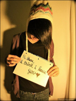 emo, boy, cute, quotes, i think i love you