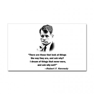60S Gifts > Stickers Bobby Kennedy Quote Rectangle Sticker