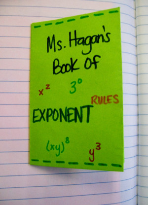Exponent Rule Book Cover