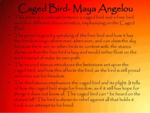 Caged bird maya angelou