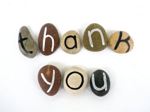 Custom Letters or Thank You Quote, Beach Pebbles, Inspirational ...
