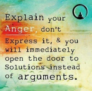 Explain Instead of Express Your Anger