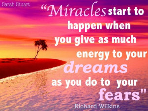Miracles Quotes In Life: Miracles Start To Happen When You Give As ...