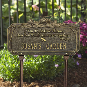 ... 1705 Personalized One Line Standard Dragonfly Poem Garden Lawn Plaque