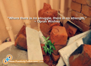 """Where there is no struggle, there is no strength."""" ~ Oprah Winfrey ..."""