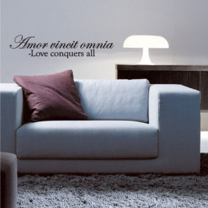 Love Conquers Quote Wall Decal