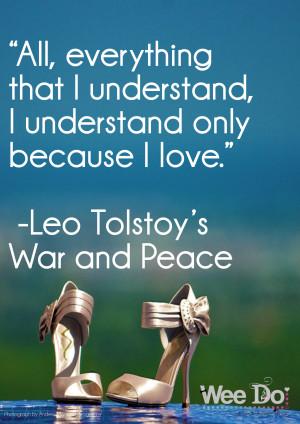 Leo Tolstoy love quote