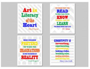 Set of 4 Educational Quotes - Classroom Wall Art - Classroom Sign ...