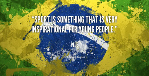 Sport is something that is very inspirational for young people.""