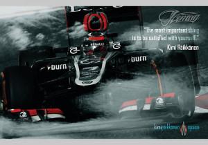 Kimi Raikkonen Quote Poster -
