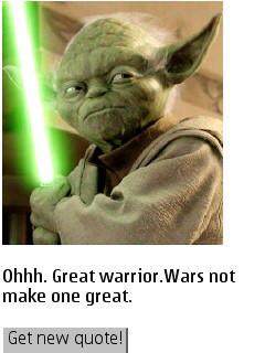 Jedi Master Yoda Quotes