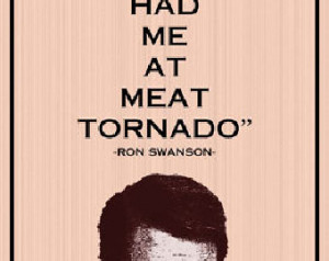 ... 11x14 - parks and recreation, meat tornado, funny, humor, geek, retro