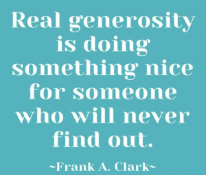 quotes about giving generosity and making a difference