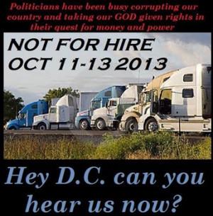 American truckers protest corrupt government