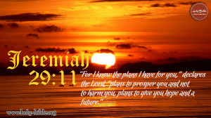 Bible Verse of the day – Jeremiah 29:11