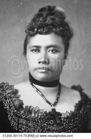 Black and White Portrait of Queen Liliuokalani
