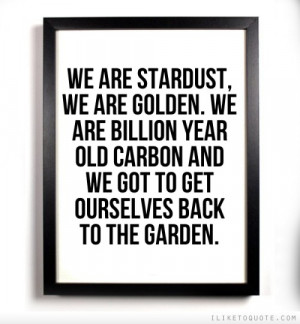 ... year old carbon and we got to get ourselves back to the garden