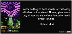 German and English firms operate internationally, while French firms ...
