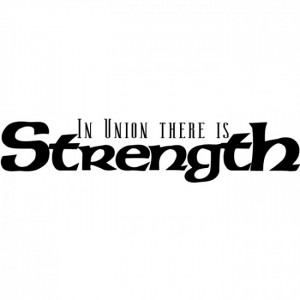 Home / In Union There Is Strength Wall Stickers Quote Wall Art