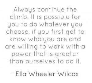 Great quote from Ella Wheeler Wilcox!