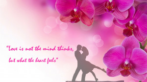 Quote Wallpaper for Romantic Couple with Pink Flower