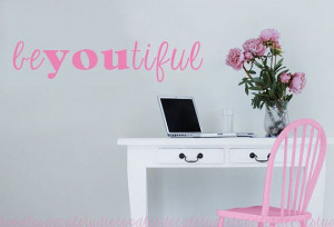 BeYoutiful Inspiration Quote Vinyl Wall Decal Sticker Words Girl ...