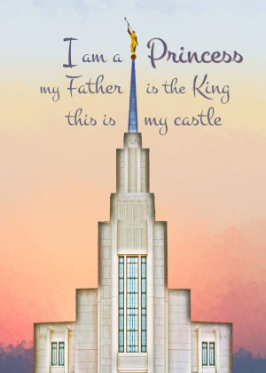 LDS Princess Temple 5x7 Quote Printable by Jabberdashery on Etsy