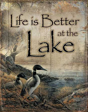 Living by the Lake Quote