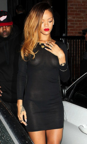 Rihanna Wore See Thru Dress