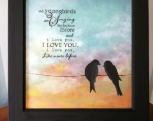 Fleetwood Mac Songbirds sign - with song lyrics or without - hand ...