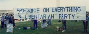Pro-Choice Libertarians at the November 12, 1989 mass pro-choice rally ...