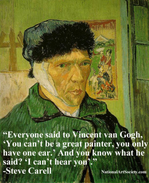 Vincent van Gogh, funny, quote, Steve Carell, art