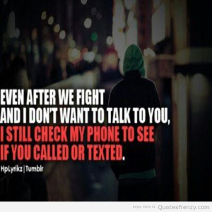 fight love phone Couples Quotes