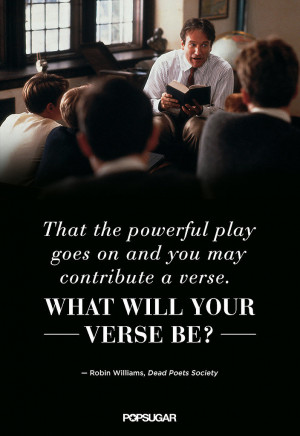 Robin Williams Dead Poets Society Quotes