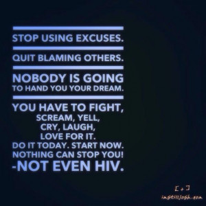 HIV Inspirational Quote