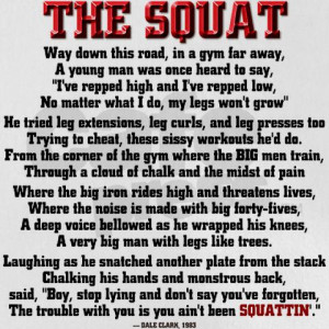 To Squat, or Not to Squat