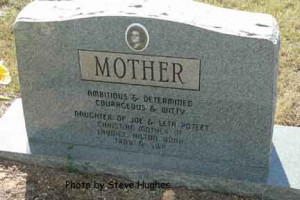 headstone inscriptions for mother