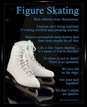 Figure Skating Framed Poster Print