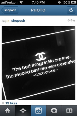 Monday Quotes For Instagram Chanel quote on instagram