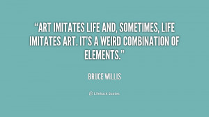 Art imitates life and, sometimes, life imitates art. It's a weird ...