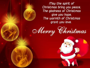 The Spirits Of Christmas Bring You Peace, The Gladness Of Christmas ...