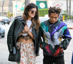 ... glare: Jaden Smith retweeted a quote Kylie had posted and added 'Ok I