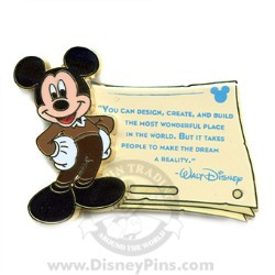 Disney Gold Card Pin - Quotes - You can Design, Create and Build...