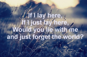 Snow Patrol Quotes.
