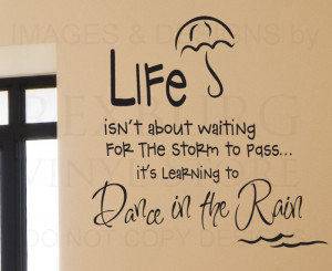 Wall-Decal-Quote-Sticker-Vinyl-Art-Removable-Letter-Life-Dance-in-the ...