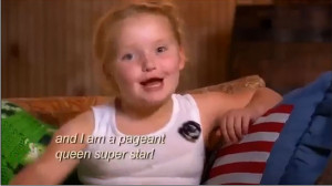 Honey Boo Boo in her new reality show. Picture: Screengrab Source ...