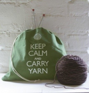 Keep Calm and Carry Yarn Picture