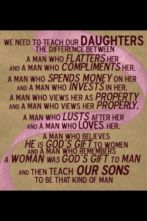 What to teach our sons & daughters