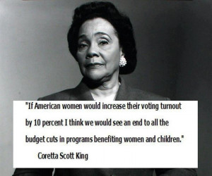 Coretta Scott King on women & voting.